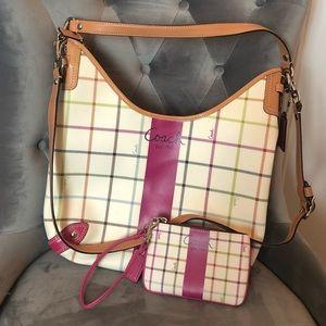 Coach shoulder-crossbody purse & matching wallet